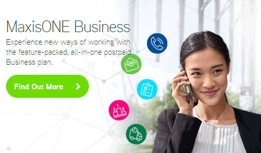 maxis one business hub banner